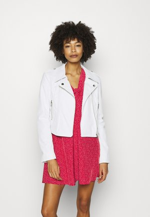 NEW KHLOE JACKET - Imitatieleren jas - true white