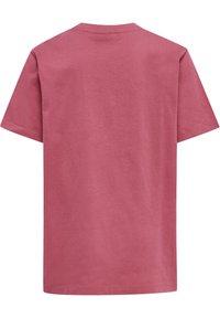 Hummel - PROUD SET - Print T-shirt - rose wine - 3