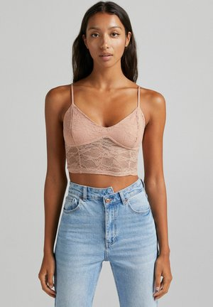 WITH STRAPS  - Top - light pink