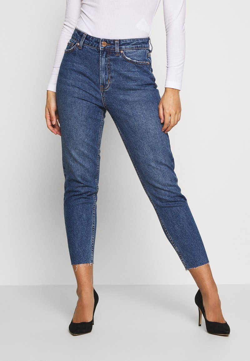 ONLY Petite - ONLEMILY - Jeans slim fit - dark blue denim