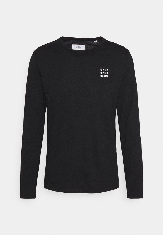 LONG SLEEVE SMALL LOGO - Long sleeved top - black