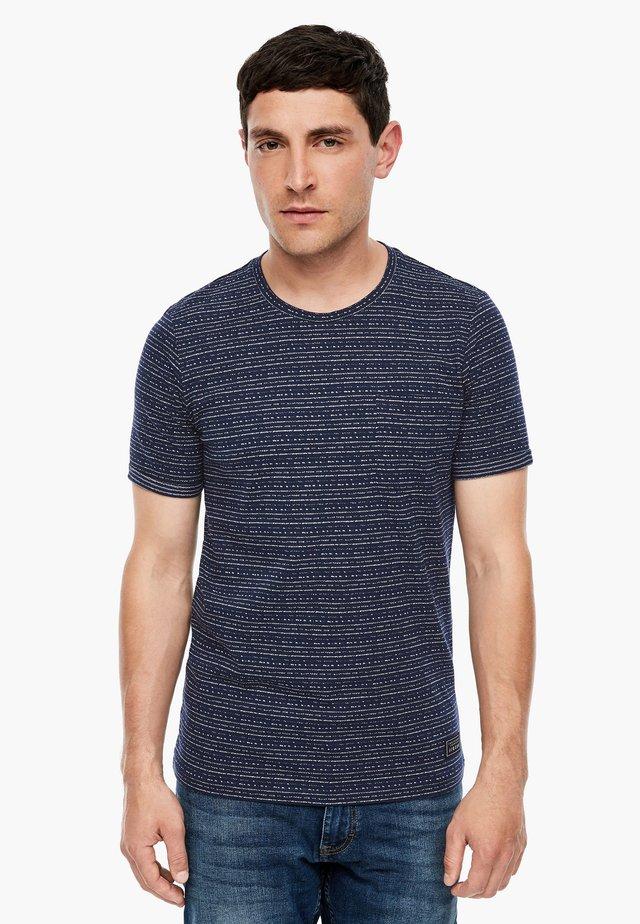 MIT WEBMUSTER - Basic T-shirt - blue melange
