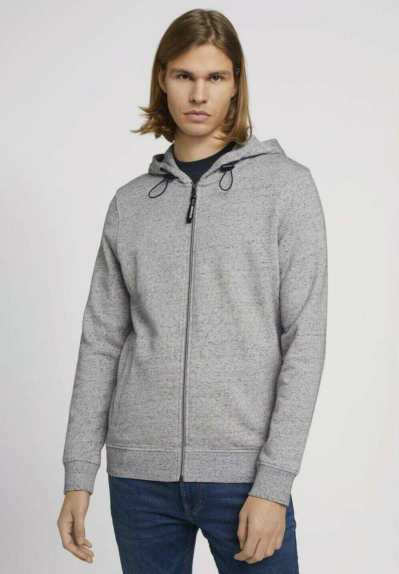 TOM TAILOR DENIM - Zip-up sweatshirt - grey