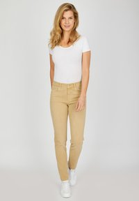 Angels - TAMA - Straight leg jeans - sand - 1