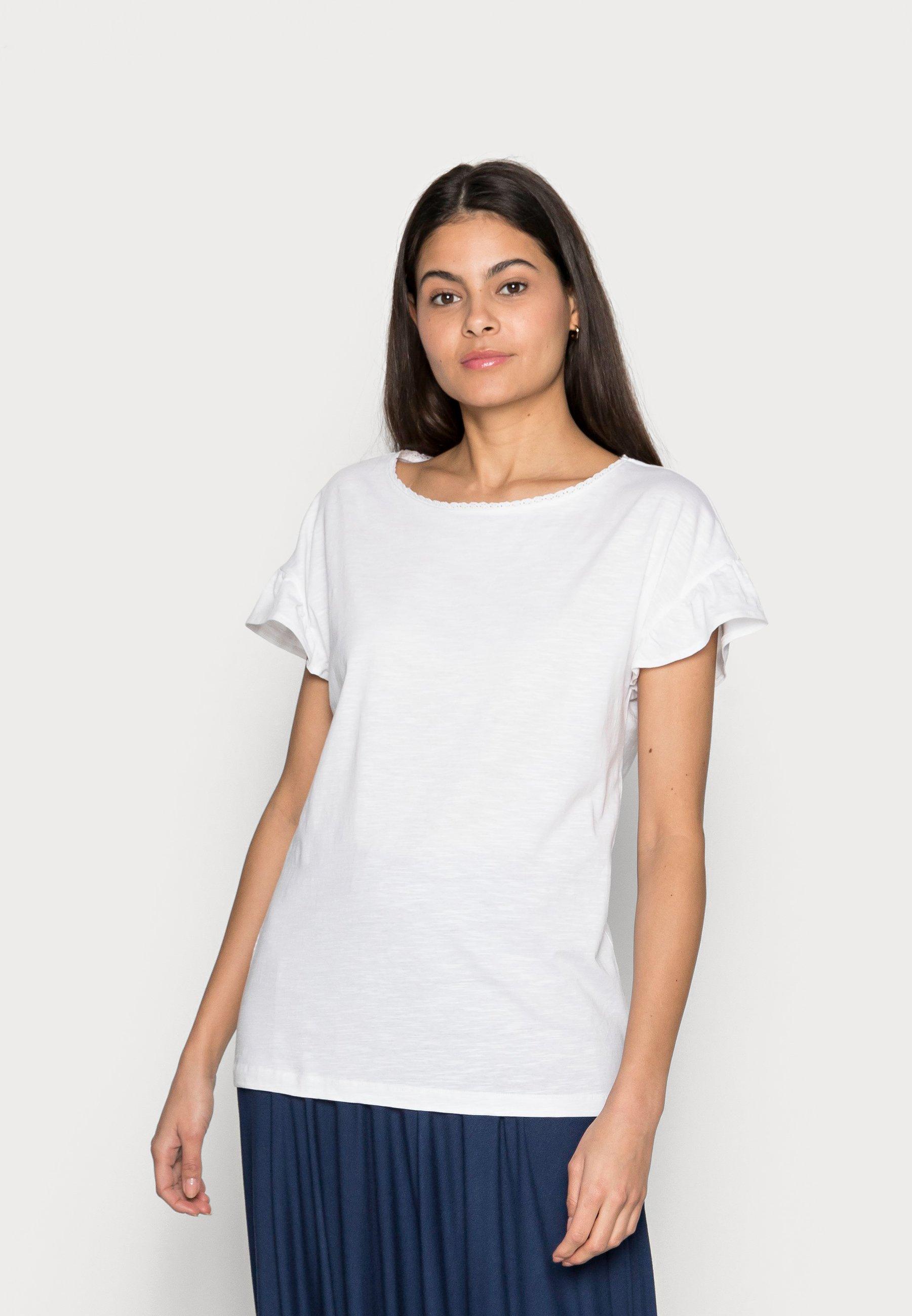 Femme SLUB FRILL - T-shirt basique