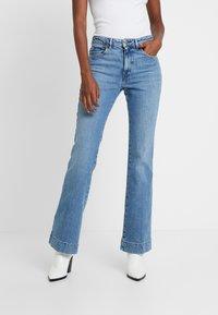 Wrangler - Flared Jeans - blue noise - 0