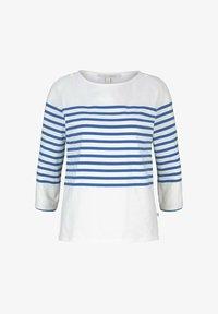 TOM TAILOR DENIM - Long sleeved top - blue white - 4
