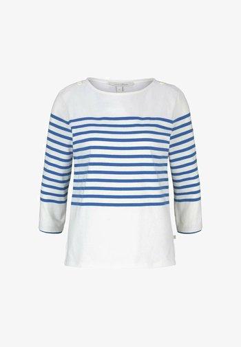 Long sleeved top - blue white