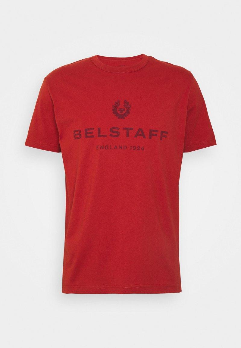 Belstaff - DISTRESSED - Print T-shirt - red ochre