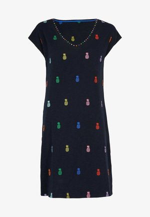 Day dress - navy, ananasstickerei