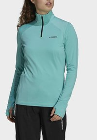 adidas Performance - TERREX EVERYHIKE HALF-ZIP FLEECE OBERTEIL - Fleece jumper - mint - 4