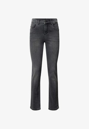 REGULAR FIT MIT LABEL-PATCH - Straight leg jeans - anthrazit
