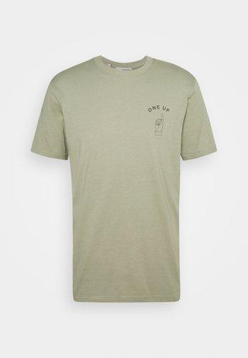SLHCARTER O NECK TEE - T-shirt print - tea