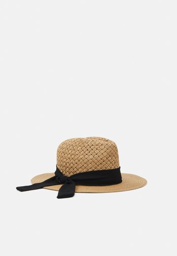 Hat - beige/black