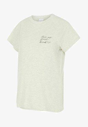 2 IN 1 MLKIKY - T-shirt z nadrukiem - oatmeal