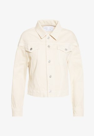 CINCHED JACKET - Denim jacket - sand