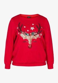Zizzi - Sweatshirt - red - 1