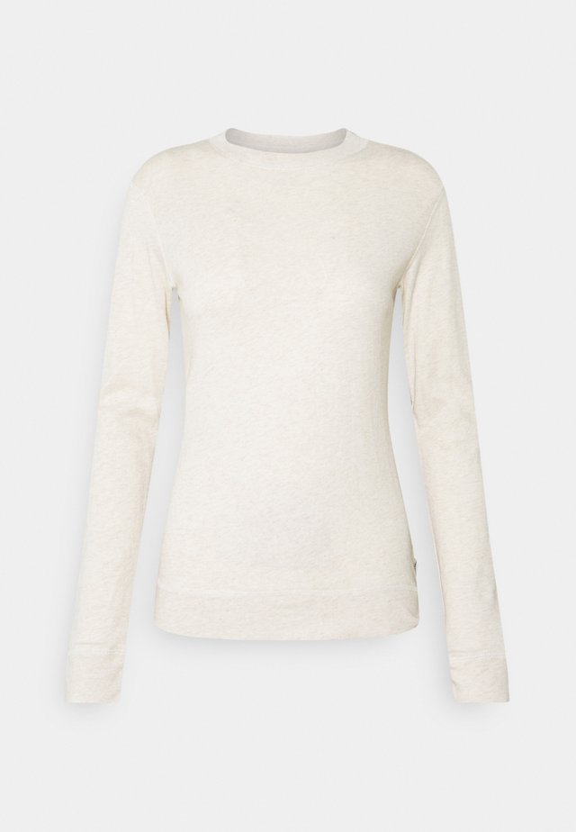 Long sleeved top - beige melange