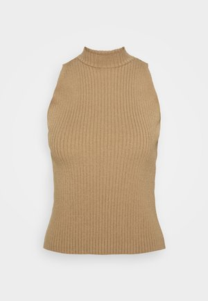 NA-KD X ZALANDO EXCLUSIVE - RIBBED - Top - beige