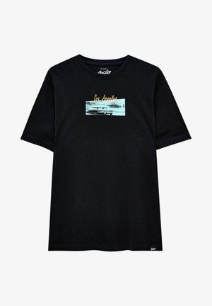 LOS ANGELES - T-shirt con stampa - black