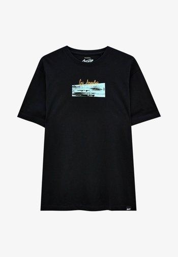 LOS ANGELES - Print T-shirt - black