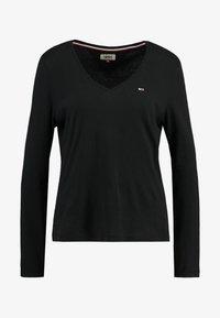 Tommy Jeans - SOFT V NECK LONGSLEEVE - Topper langermet - black - 3