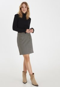 b.young - A-line skirt - black mix - 1