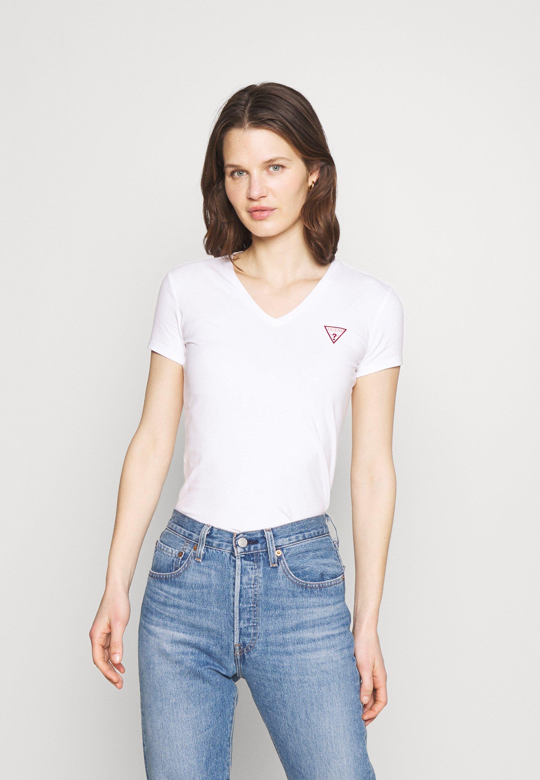 Women MINI TRIANGLE - Print T-shirt - true white