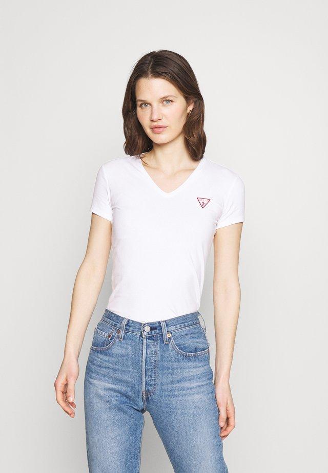 MINI TRIANGLE - T-shirt z nadrukiem - true white