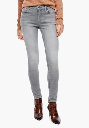 MIT WASCHUNG - Jeans Skinny Fit - grey