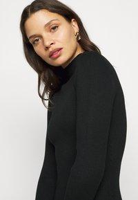 Missguided Petite - HIGH NECK MINI DRESS - Shift dress - black - 3
