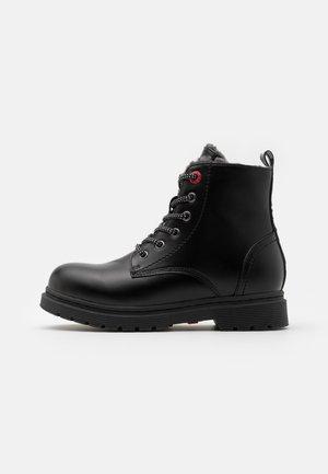 CLOVER UNISEX  - Lace-up ankle boots - black