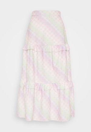 LUCINDA - Maxi skirt - ombre gingham