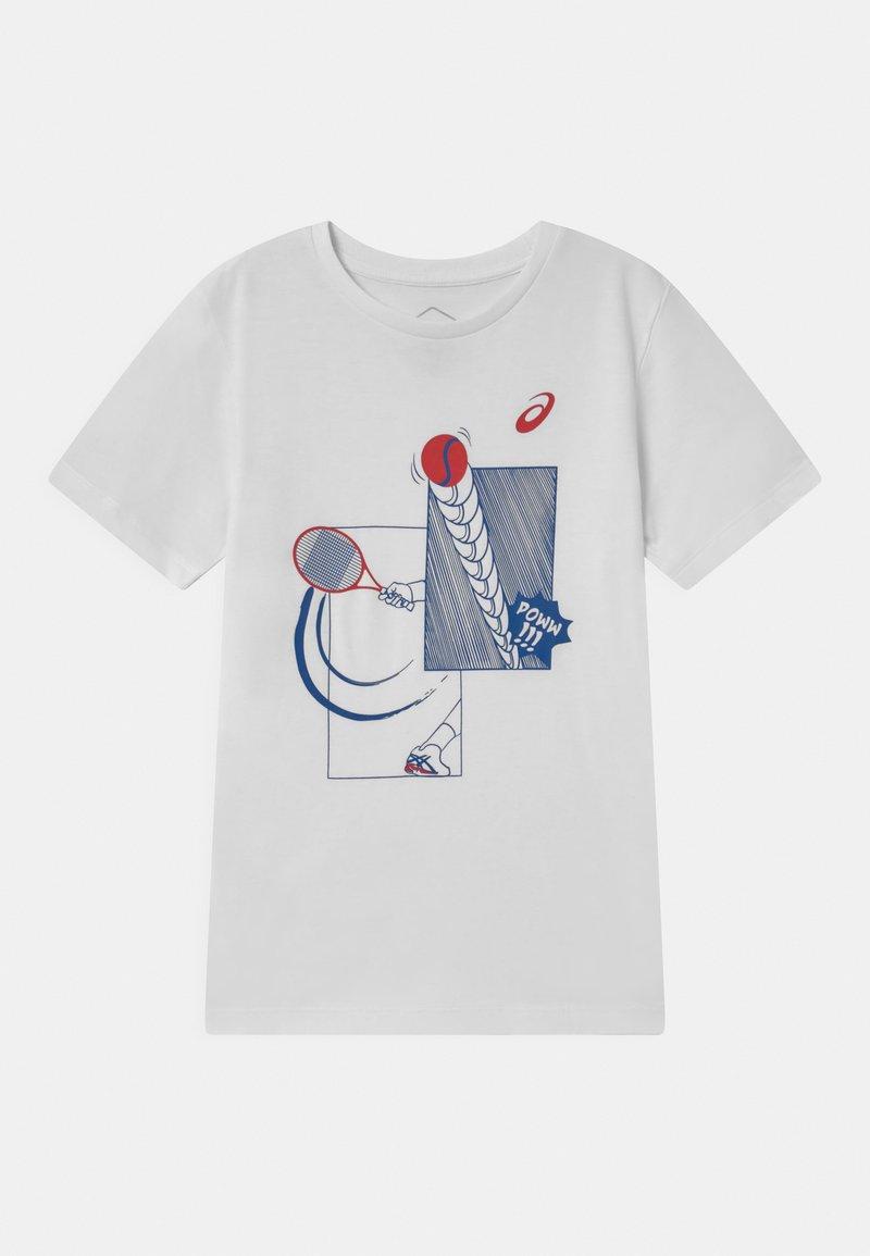 ASICS - TENNIS UNISEX - Print T-shirt - brilliant white