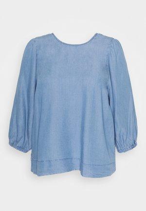 CARJEMMA LIFE PUFF TOP - Long sleeved top - medium blue denim