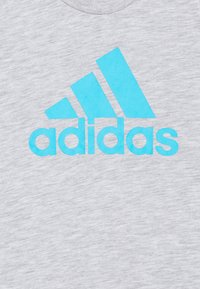 adidas Performance - TEE - Print T-shirt - mottled grey - 2