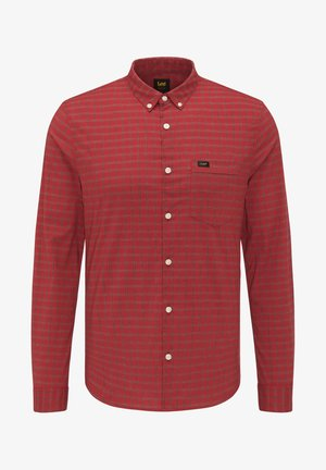 SLIM BUTTON DOWN - Shirt - red ochre