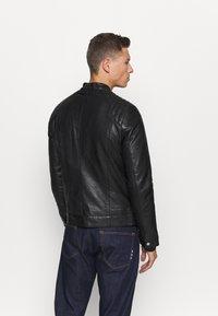 Schott - LCJULES - Leather jacket - black - 2