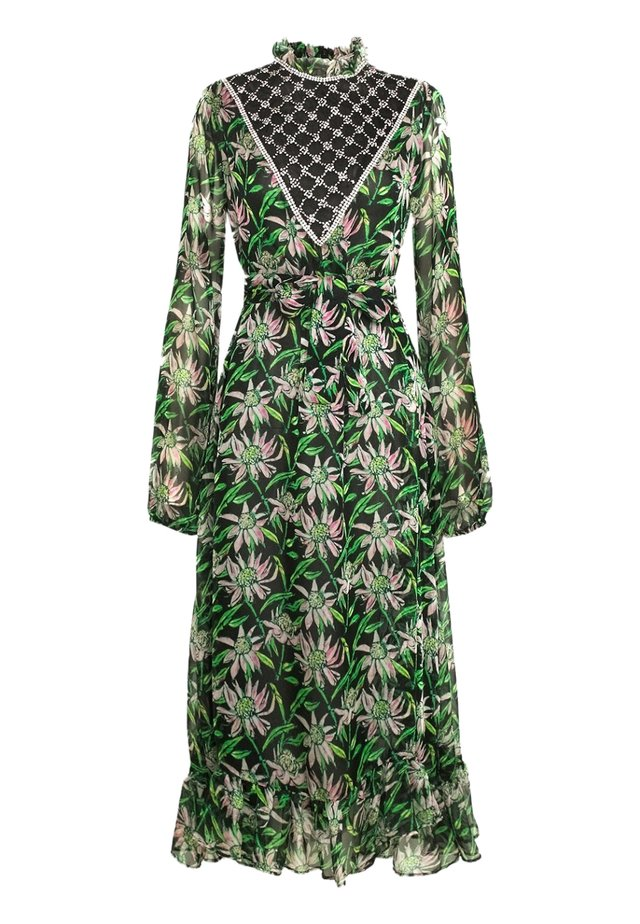 Maxi dress - black / green