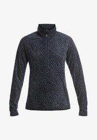 Roxy - CASCADE - Fleece jumper - true black zebra print - 0