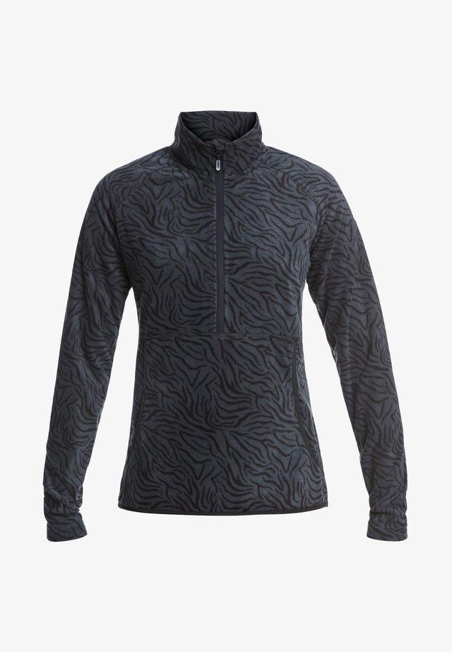 CASCADE - Fleece trui - true black zebra print