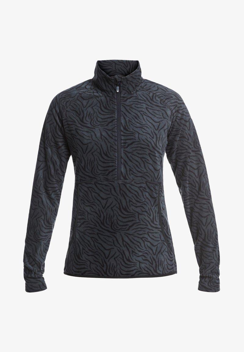 Roxy - CASCADE - Fleece jumper - true black zebra print