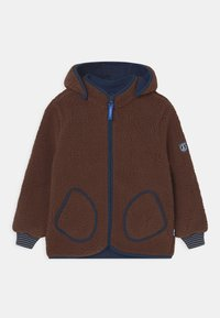 Finkid - TONTTU NALLE UNISEX - Fleece jacket - cocoa/navy - 0