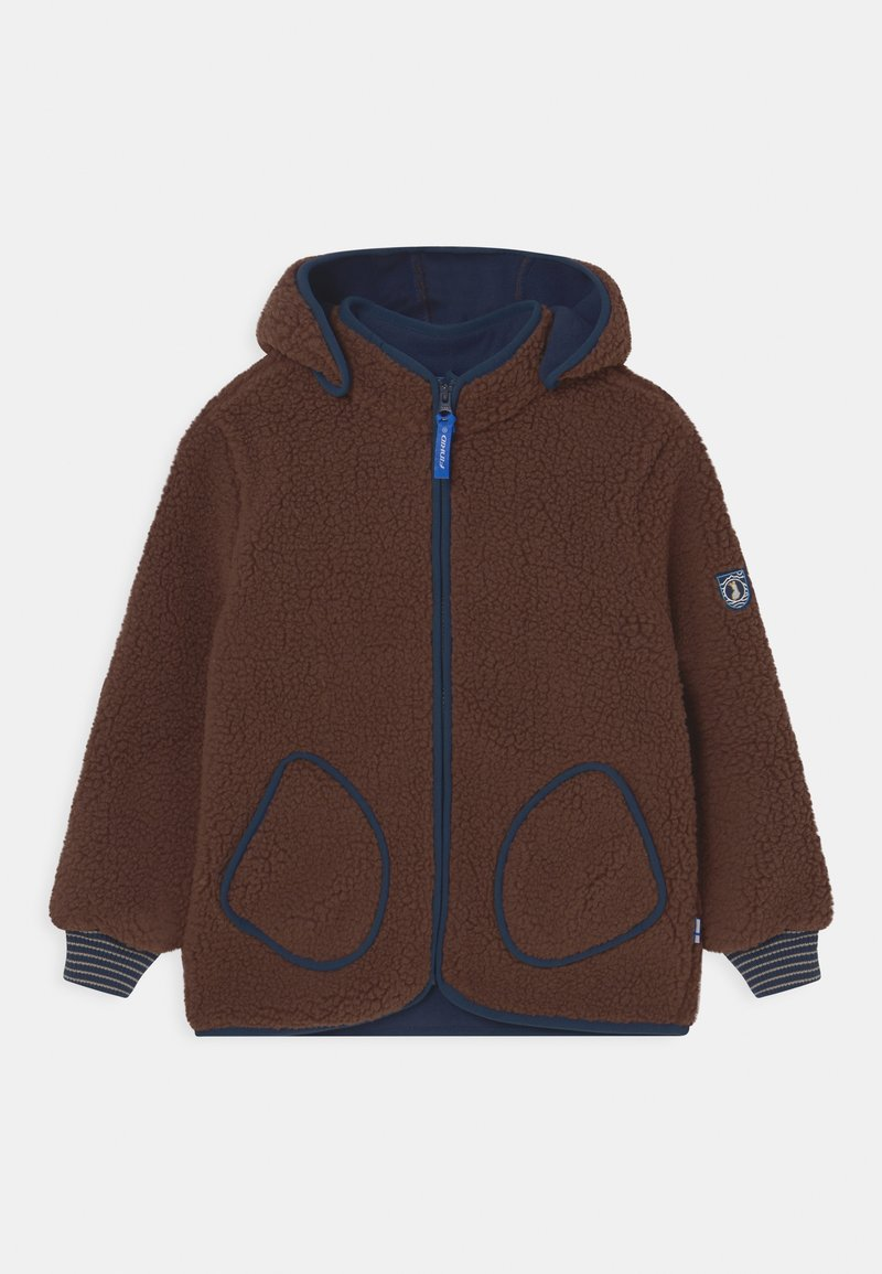 Finkid - TONTTU NALLE UNISEX - Fleece jacket - cocoa/navy