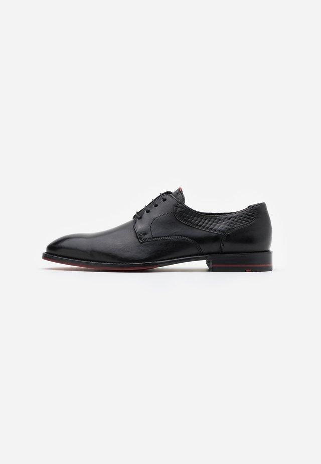 MALVIN - Business sko - schwarz/rot