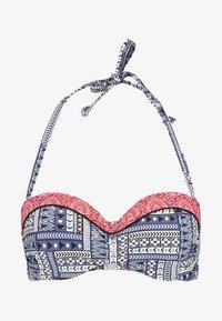 s.Oliver - WIRE BANDEAU - Bikini top - blue/red - 5