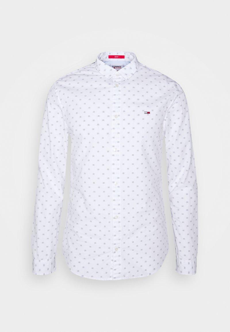 Tommy Jeans - DOBBY SHIRT - Overhemd - white/multi