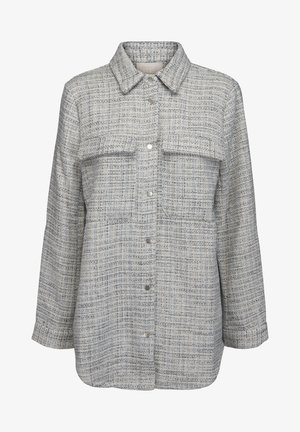 Summer jacket - powder blue checked