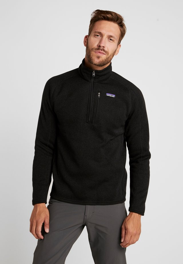 BETTER 1/4 ZIP - Felpa in pile - black