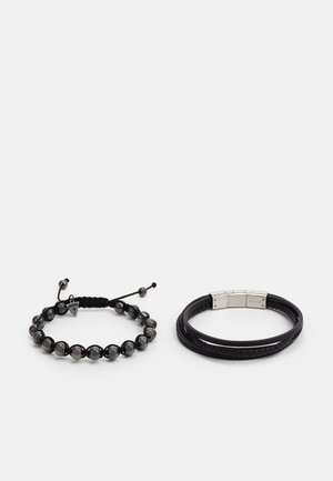 SET - Pulsera - black/gunmetal